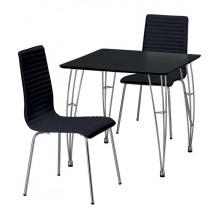 Bộ bàn ghế PVC Black, 75x 75
