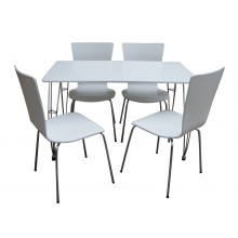 Bộ bàn ghế Pure White