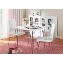 Bộ bàn ghế PVC White, 75x 75